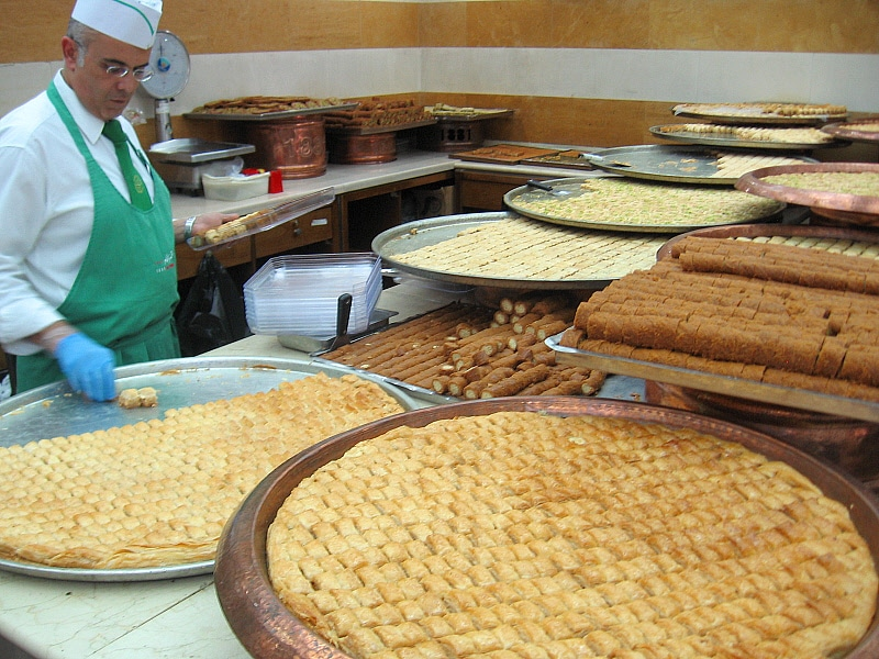 Easy to make lebanese baklava rolls recipe mamas lebanese kitchen different types of baklava at abdulrahman hallab in tripoli lebanon forumfinder Image collections