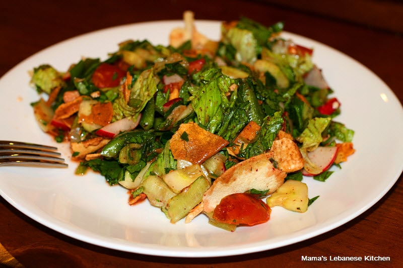 Lebanese Fattoush Salad Recipe