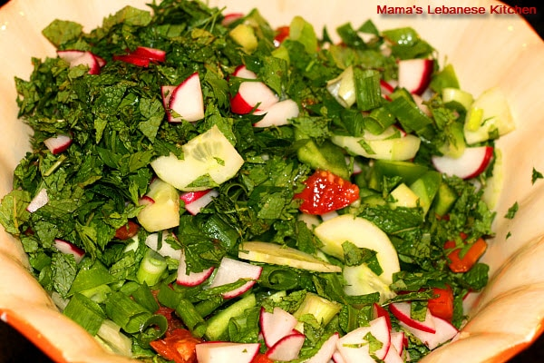 Fattoush Salad Bowl