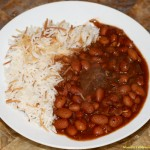 Lebanese Beef Chili Stew: Fasolia Beans with Rice