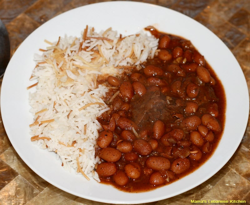 Lebanese Beef Chili Stew Fasolia Beans With Rice
