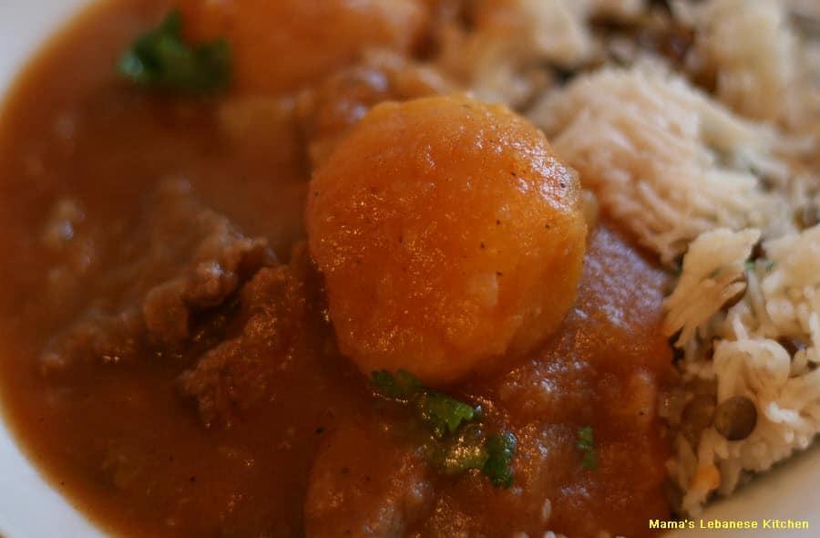 Lebanese Potato Stew - Yakhnet Batata