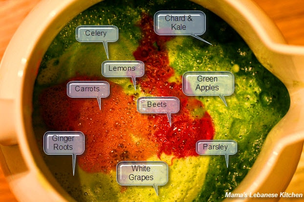Juice Diet Fruits Veggies Rainbow