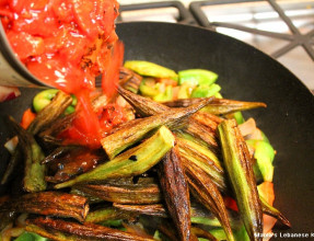 Mix Okra With Veggies