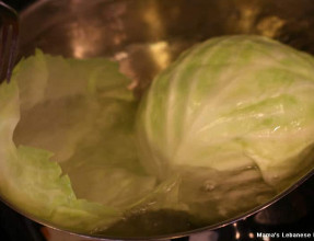 Boil Then Separate Cabbage Leaves