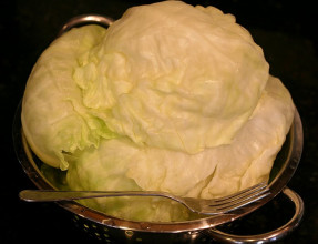 Separated Cabbage Leaves