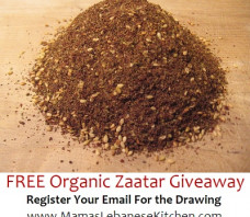 Free Organic Zaatar Giveaway: Limited Time