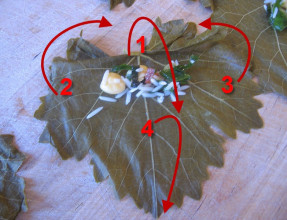 How to Fold Grape Leaves