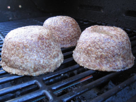 Kibbe on a BBQ Grill