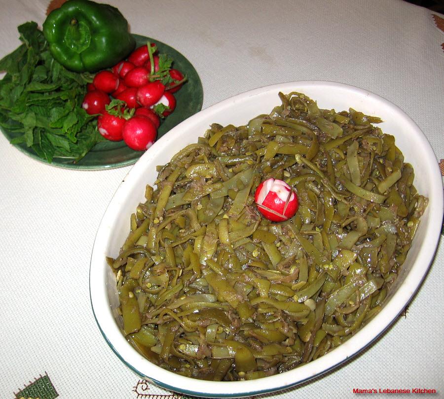 green beans and olive oil saute loubieh bi zait. Black Bedroom Furniture Sets. Home Design Ideas