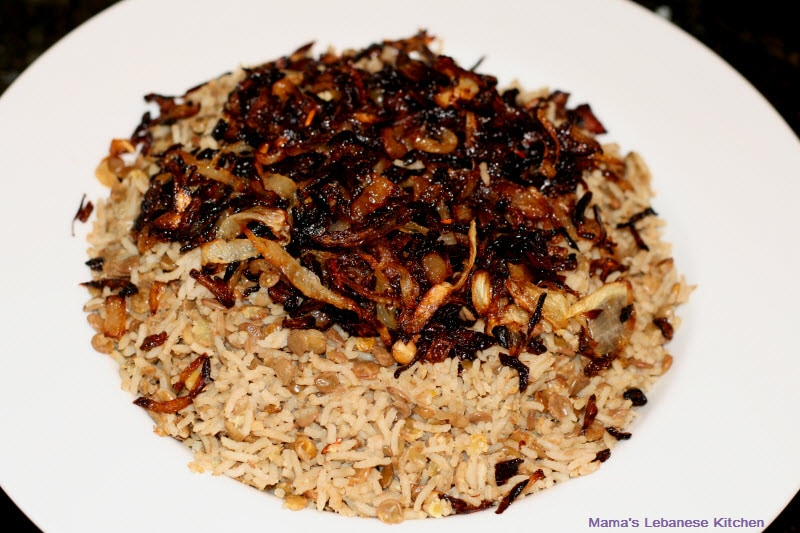 Marvelous Mujaddara: Lentils With Rice And Caramelized Onions Recipe