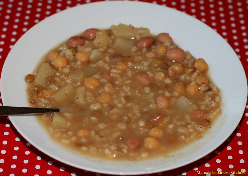 Hearty lebanese whole grains stew makhlouta mamas lebanese lebanese makhlouta grains stew forumfinder Image collections