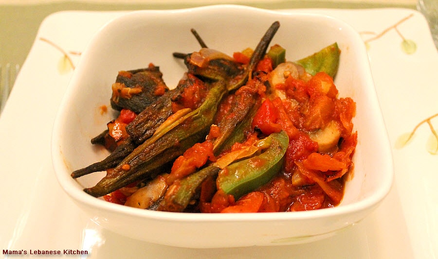 lebanese okra stew - Lebanese Kitchen