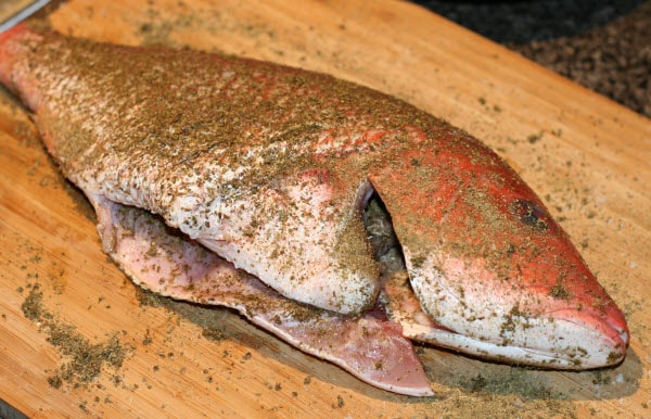Baked fish with sumac and oregano spices for Oven baked fish