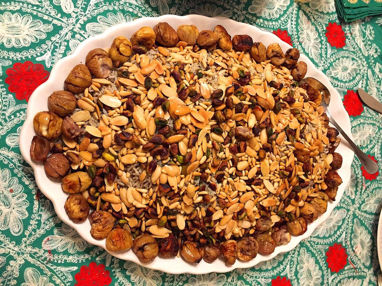 lebanese chestnut roasted turkey and nuts - Lebanese Kitchen