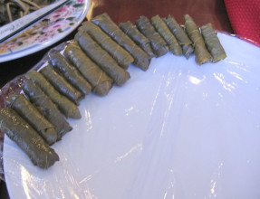 Line Up The Rolled Grape Leaves